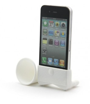 White Amplifiesa  style horn stand