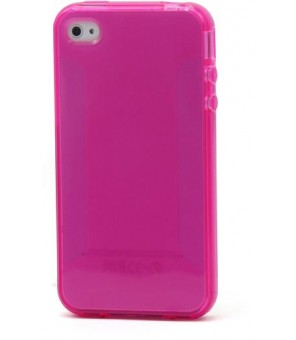 Pink TPU JELLY plastica trasparente for iphone 4/4s 1.5MM