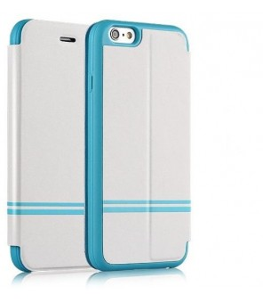 Keen pure white for Iphone 6 Pu With Silk Print