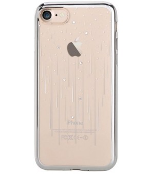 Cover Soft Meteor Crystals from Swarovski iPhone 7 Silver
