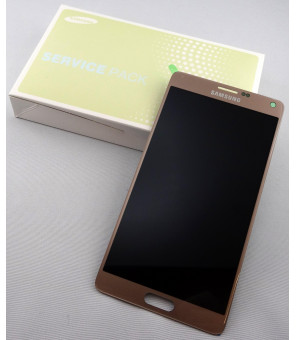 LCD+TOUCH ORIGINALE FULL GALAXY NOTE4 N91X GOLD GH9716565C